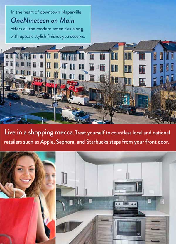 one nineteen apartments luxury apartment homes Naperville IL Chicago illinois calibrate property management